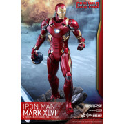 Hot Toys Captain America  Civil War  Iron Man Mark XLVI Die-cast 1/6