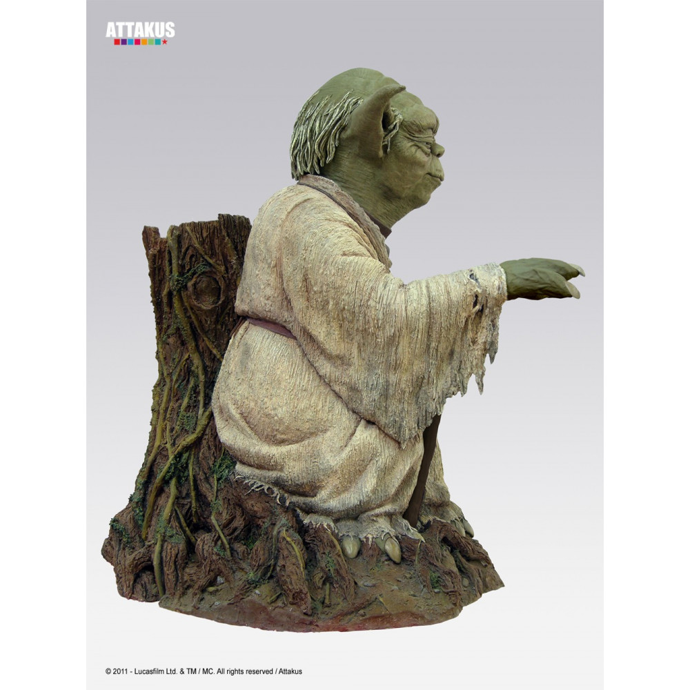 attakus star wars yoda statue life size ebay. Black Bedroom Furniture Sets. Home Design Ideas