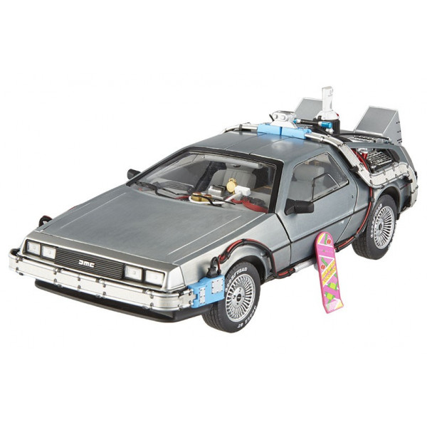hot wheels retour vers le futur delorean elite edition 1 18 m tal ebay. Black Bedroom Furniture Sets. Home Design Ideas