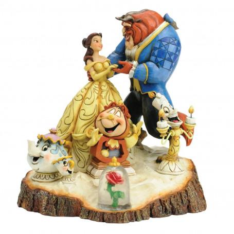 Disney Traditions La belle et la bete Jim Shore