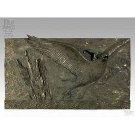 Weta Flight From Isengard Faux Bronze Plaque