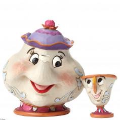 Disney Traditions Belle et la Bête Mrs Potts et Chip 10 cm
