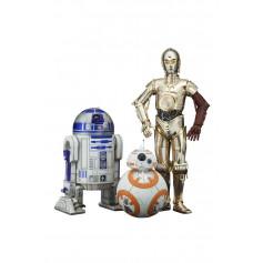 Kotobukiya Star Wars Episode VII pack 3 figurines PVC ARTFX 1/10 C-3PO & R2-D2 & BB-8