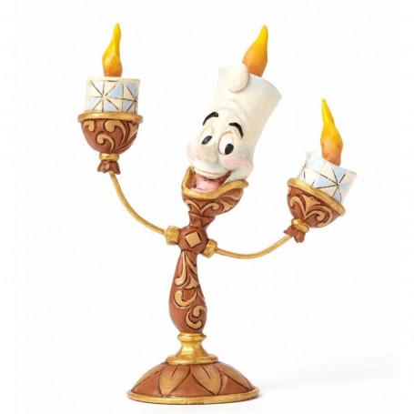 Disney Traditions 4049620 Figurine Belle et la Bête Ooh la La/Lumière