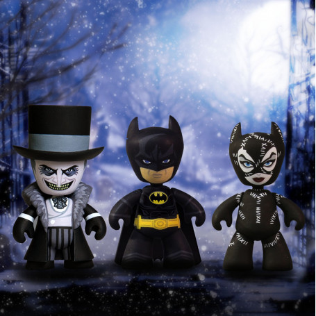 Mezco Batman Le Défi pack 3 figurines