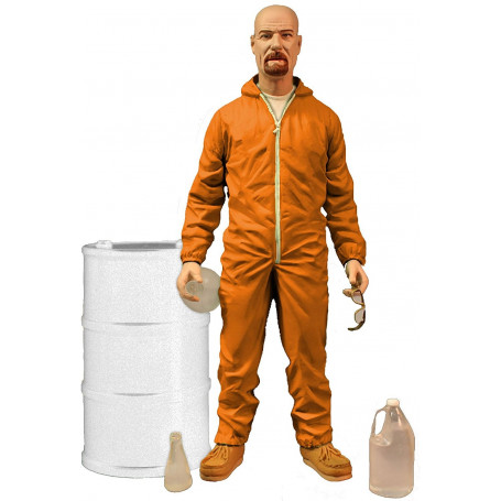 Mezco Breaking Bad figurine Deluxe Walter White in Orange Hazmat Suit Exclusive
