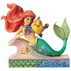 Enesco Disney Traditions Figurine Ariel avec Polochon