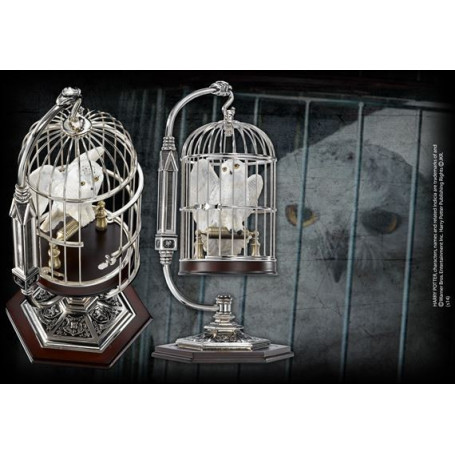 Noble Collection Figurine Hedwige en cage miniature