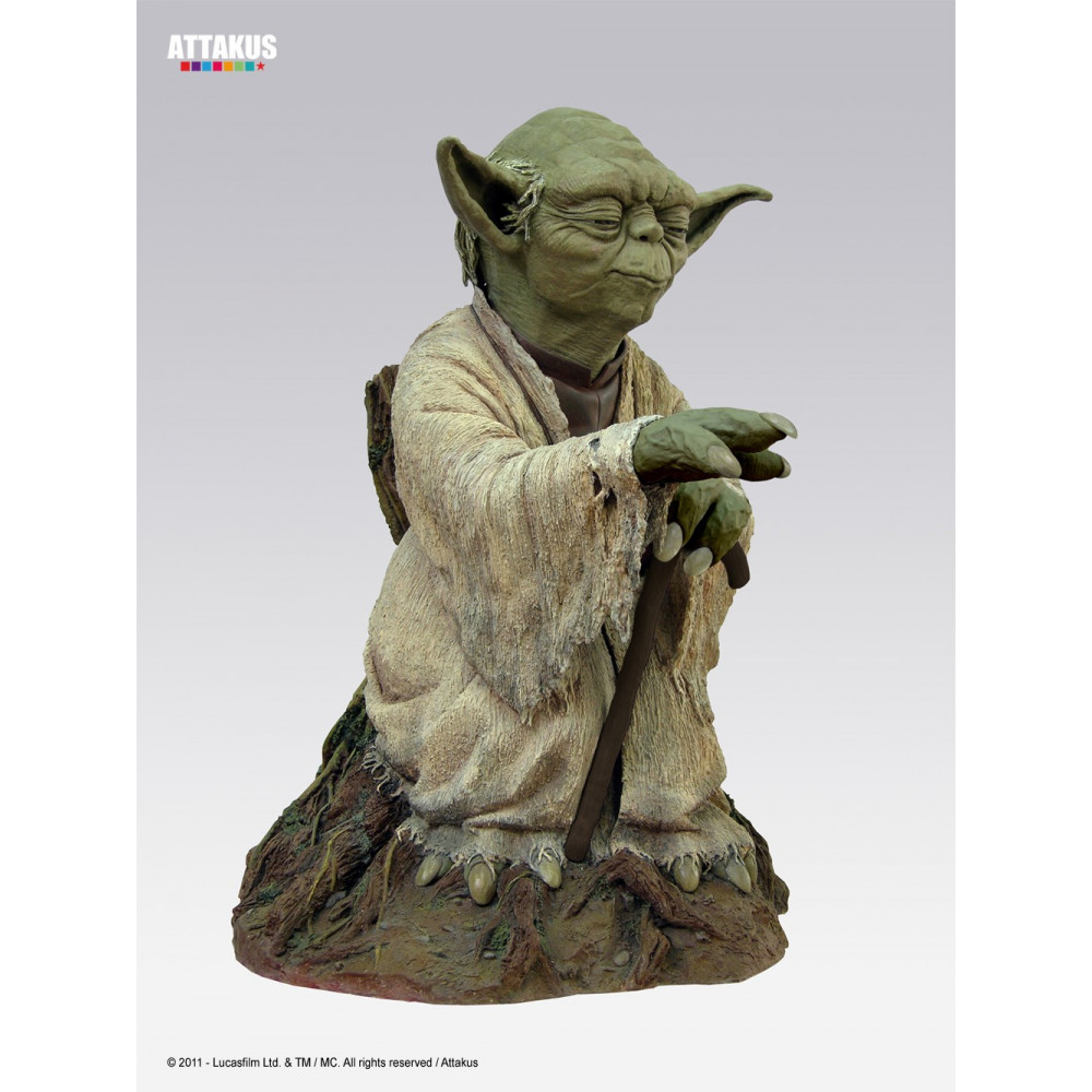 attakus star wars yoda statue life size figurine collector. Black Bedroom Furniture Sets. Home Design Ideas