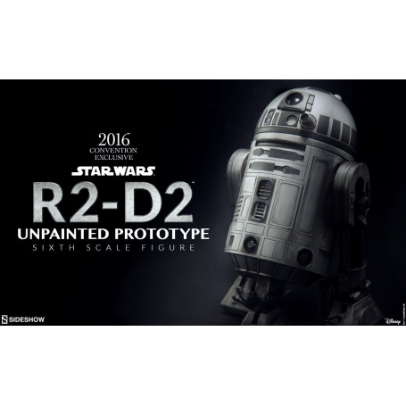 Sideshow Star Wars 1/6 R2-D2 Unpainted Prototype 2016 Con Exclusive