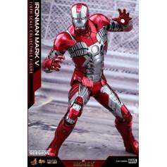 Hot Toys Iron Man Mark V Movie Masterpiece Diecast 1/6