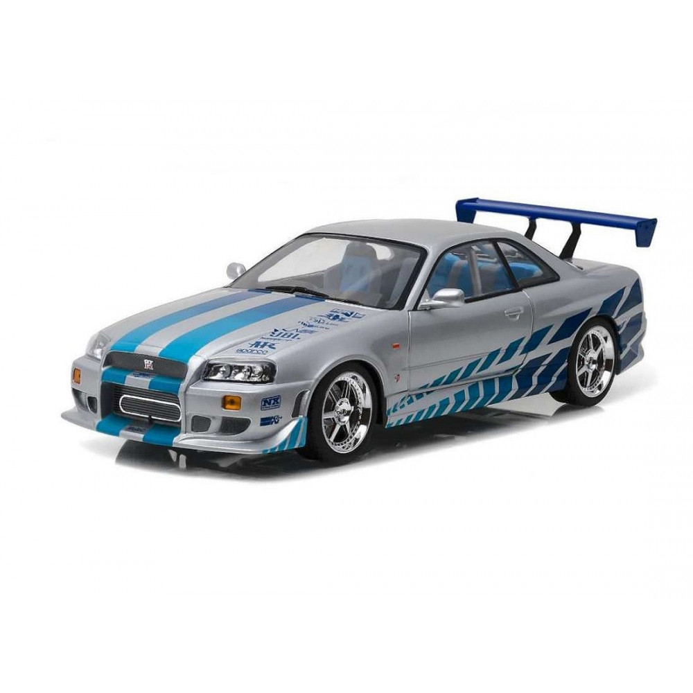 greenlight fast and furious 2003 brian nissan skyline figurine collector. Black Bedroom Furniture Sets. Home Design Ideas