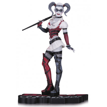 DC Direct Statue Harley Quinn Red, White & Black statuette Arkham Asylum
