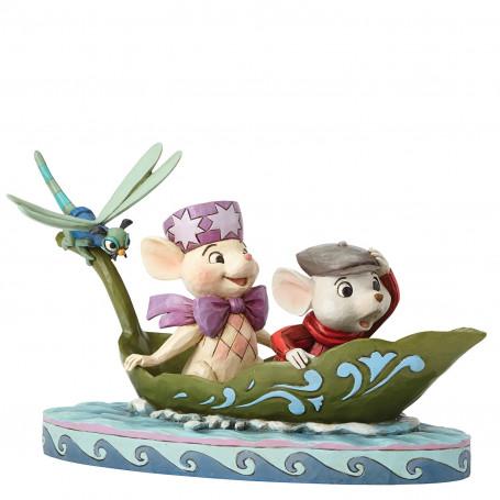 Enesco Disney Traditions Bernard et Bianca 40th anniversaire
