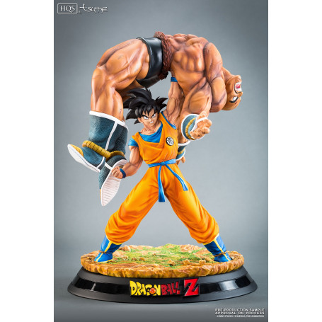 tsume hqs dragon ball z statue goku versus nappa figurine collector. Black Bedroom Furniture Sets. Home Design Ideas