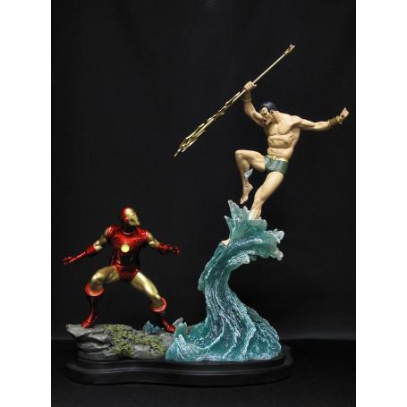 Sideshow Diorama Iron Man Versus Namor Occasion