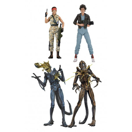 NECA ALIENS SERIES 12 set complet 17-23 cm