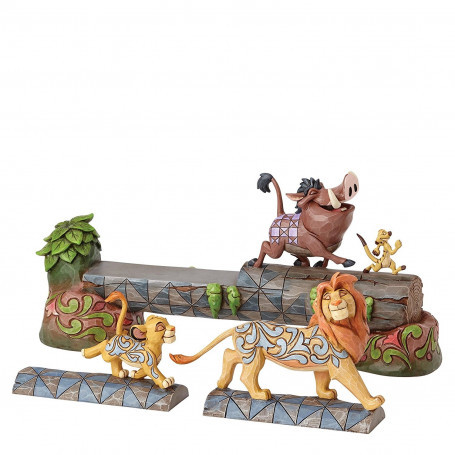 Enesco Disney Traditions Simba Timon & Pumbaa 3 Piece Figurine