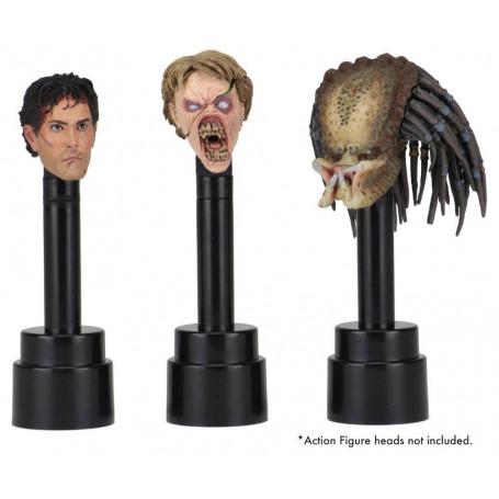 Accessoires NECA socles noirs pour têtes de figurines