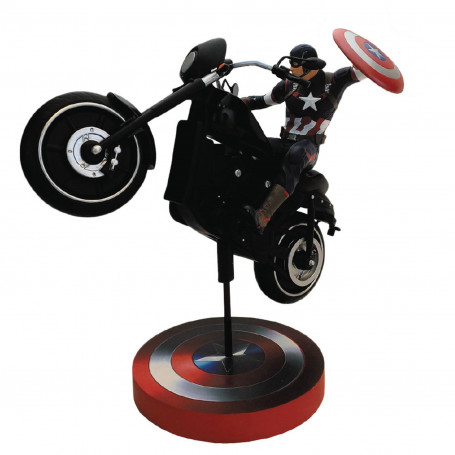 Factory entertainment Marvel statue Captain America Sur sa moto