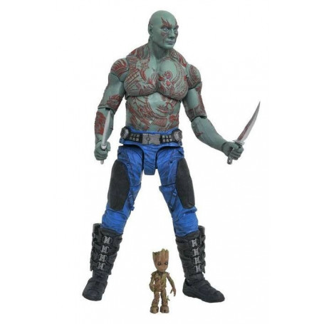 Diamond Marvel Select Figurine Drax et Baby Groot Les gardiens de la galaxie