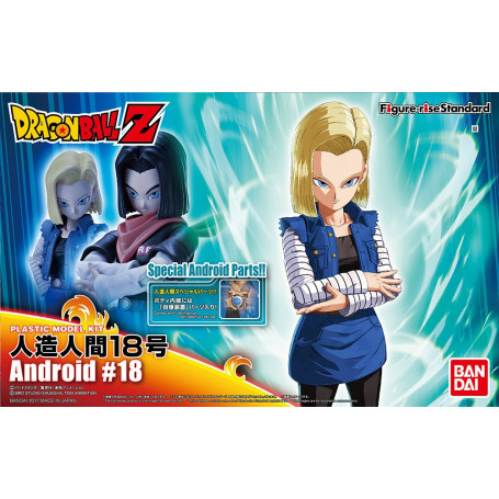 Bandai FIGURE-RISE DRAGON BALL Z C-18 Android Model Kit