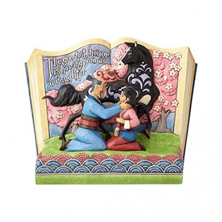 """Enesco Disney Showcase Mulan 20th Anniversary Storybook - """"the greatest Honor is having you as a daughter"""""""