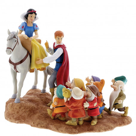 "Disney enchanting collection Statuette ""A Joyfull Farewell"" Blanche Neige - Snow White"