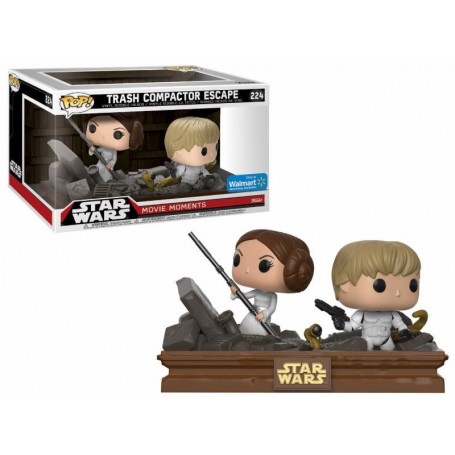 Funko POP Star Wars Trash Compactor Luke and Leia