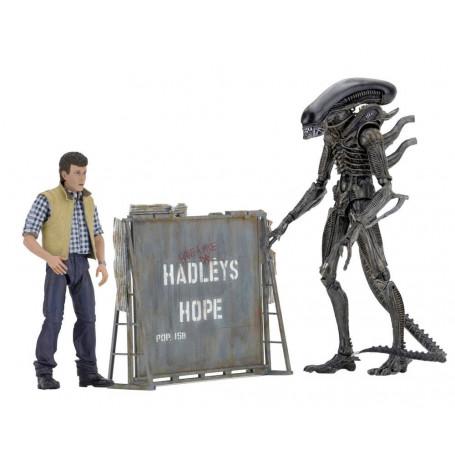 Aliens pack 2 figurines Neca Hadley's Hope - Carter Burke et Prototype warrior