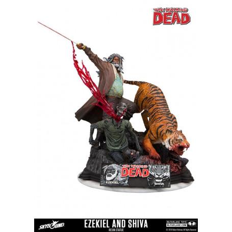 Mcfarlane The Walking Dead COMIC Statue Ezekiel et Shiva résine