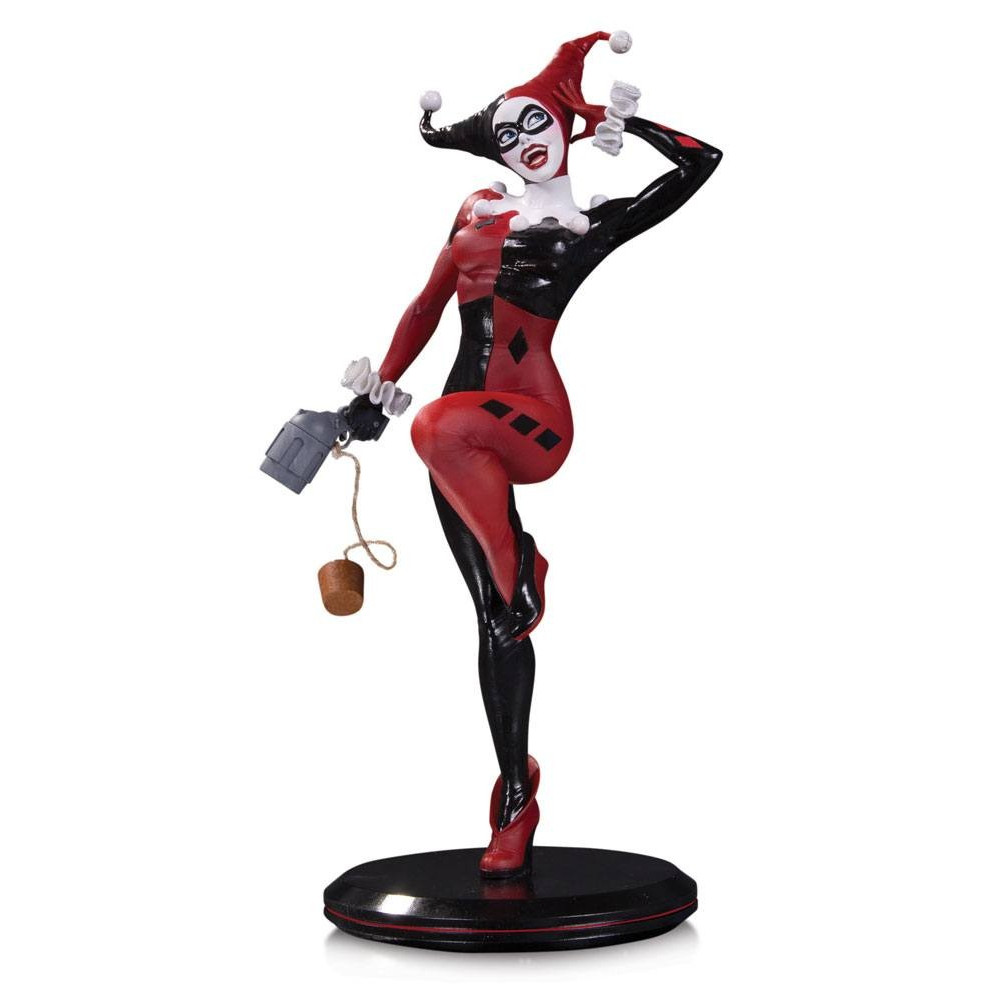 dc collectibles cover girls statue harley quinn by joelle jones 28 cm figurine collector. Black Bedroom Furniture Sets. Home Design Ideas