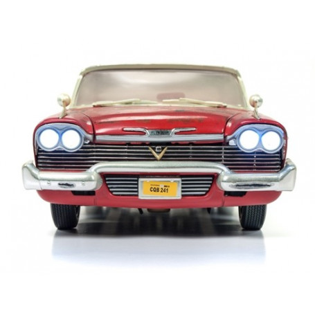 Autoworld CHRISTINE - John Carpenter - 1958 Plymouth Fury - Dirty Version - 1:18 Diecast