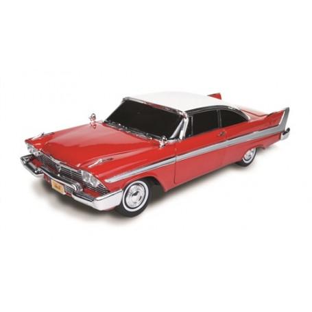 Autoworld CHRISTINE - John Carpenter - 1958 Plymouth Fury - 1:18 Diecast