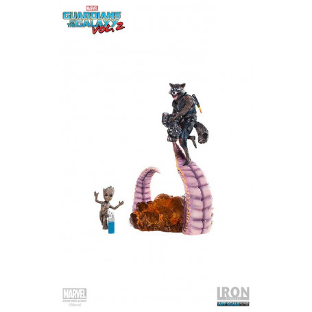 Iron Studios Les Gardiens de la Galaxie - 1/10 - Groot & Rocket BDS Art Scale - Guardians of the Galaxy