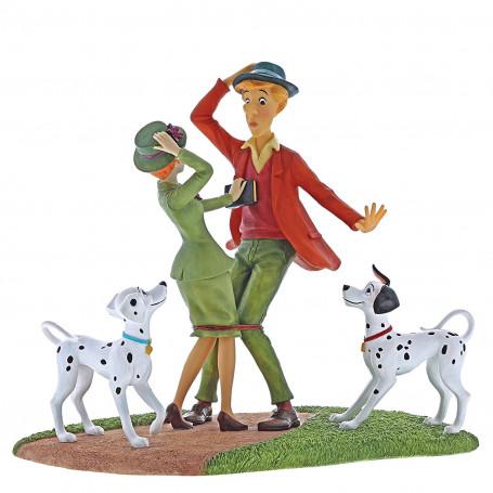Enesco - Disney Traditions Les 101 Dalmatiens - La rencontre