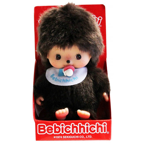 Bandai - Monchhichi - Bebichhichi Garcon Bavoir Bleu - Kiki