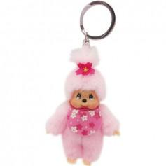 Bandai - Monchhichi porte clés Pinky Sakura - Kiki