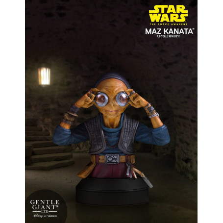 58a5be076c44 Star Wars Episode VII buste Gentle Giant 1 6 Maz kanata - 18 cm ...