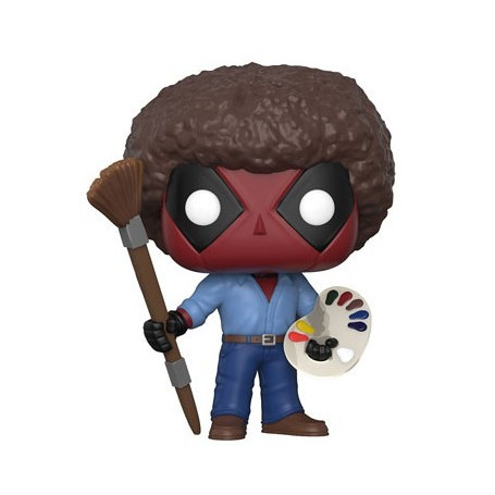 Funko POP 319 - Marvel Deadpool as Bob Ross