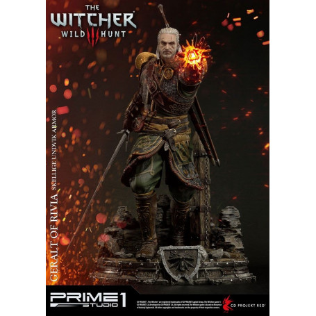 Prime One Studio Witcher 3 Wild Hunt statuette Geralt of Rivia - Skellige Undvik Armor