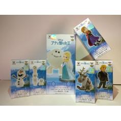 Banpresto Disney Characters WCF Story - Frozen - La Reine des Neiges - Set de 7 figurines