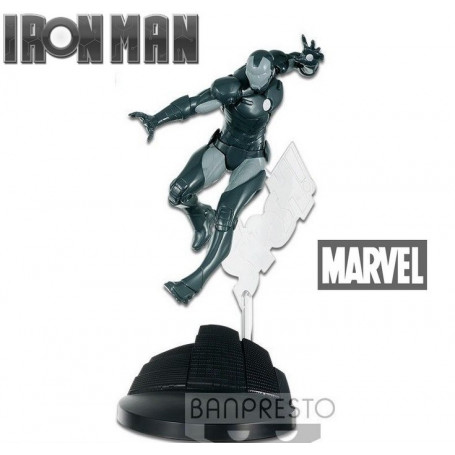 Banpresto Marvel - Creator X Creator - Iron Man - version Noir et Blanc
