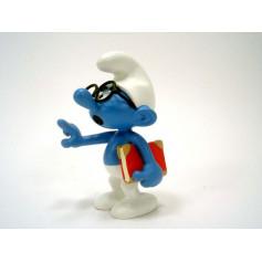 Plastoy Figurine Résine Schtroumpf à lunettes Smurf