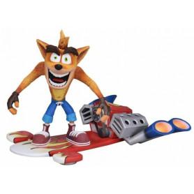 Neca Crash bandicoot - Deluxe figure with Jet Board - 14cm