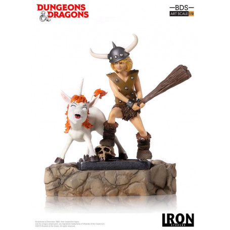 Iron Studios Dungeons & Dragons - Le Sourire du Dragon - statuette BDS Art Scale 1/10 Bobby The Barbarian & Uni - 16 cm