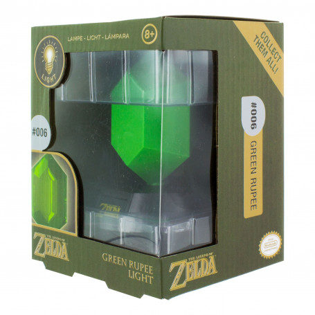 Paladone Legend of Zelda Lampe Green Rupee