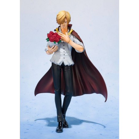 Bandai - One Piece Figuarts Zero - Sanji Vinsmoke - Whole Cake Island Ver. Tamashii Web Exclusive 17 cm