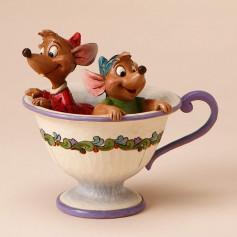 "Enesco Disney Traditions - Cendrillon Jaq et Gus ""Tea for Two"""