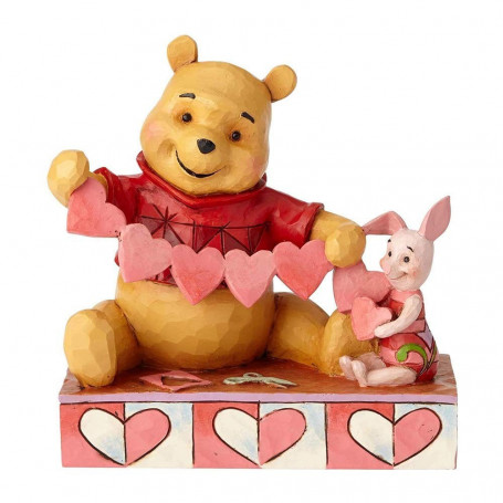 "Enesco Disney Traditions - Winnie l'Ourson et Porcinet ""Handmade Valentines"""